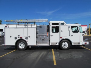 Foxborough, MA Fire Department - Stainless Steel Side Mount Pumper - Officer Side