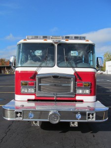 North Amherst Fire Co. - Stainless Steel Side-Mount Pumper - Front View