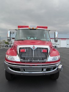 Saint Paul BLVD Fire Department - New Stainless Heavy Rescue - Front view