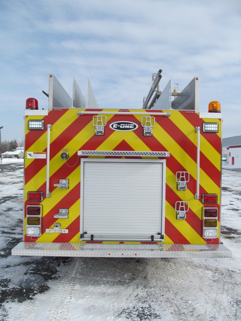 Dennison, OH Fire Department's Stainless E-ONE Pumper - Rear