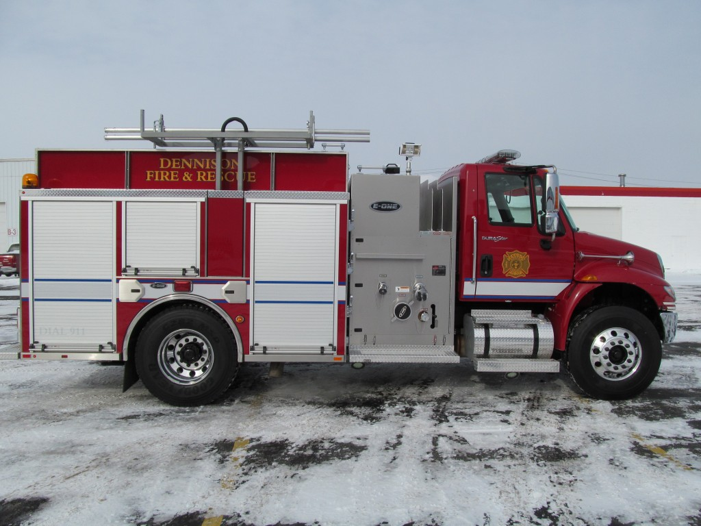 Dennison, OH Fire Department's Stainless E-ONE Pumper - Officer side