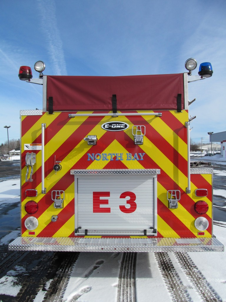 North Bay Volunteer Fire Department, NY E-ONE Stainless Top Mount Pumper - Rear