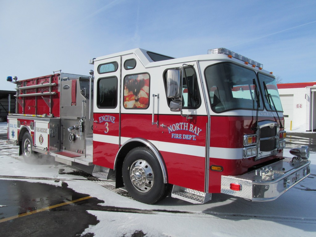 North Bay Volunteer Fire Department, NY E-ONE Stainless Top Mount Pumper