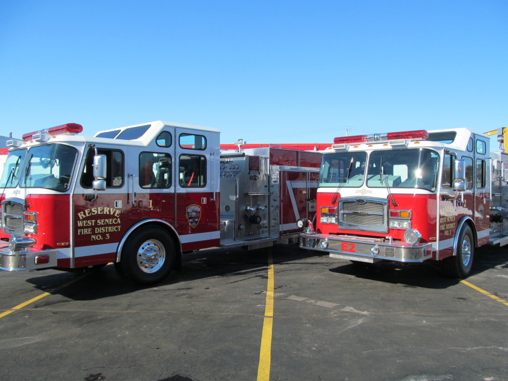 E-ONE Top Mount Pumpers For West Seneca, New York Fire District # 3
