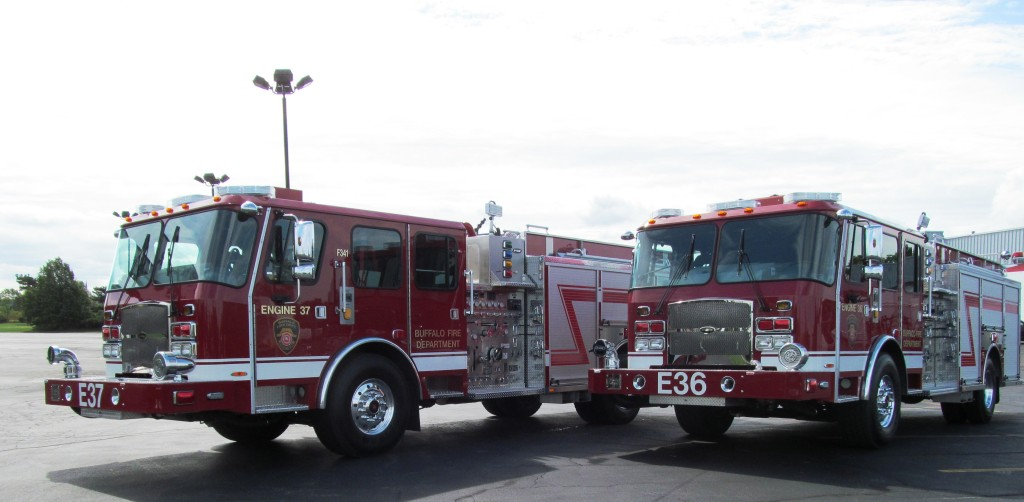 Twin E-ONE Stainless Steel Pumpers for City of Buffalo ...